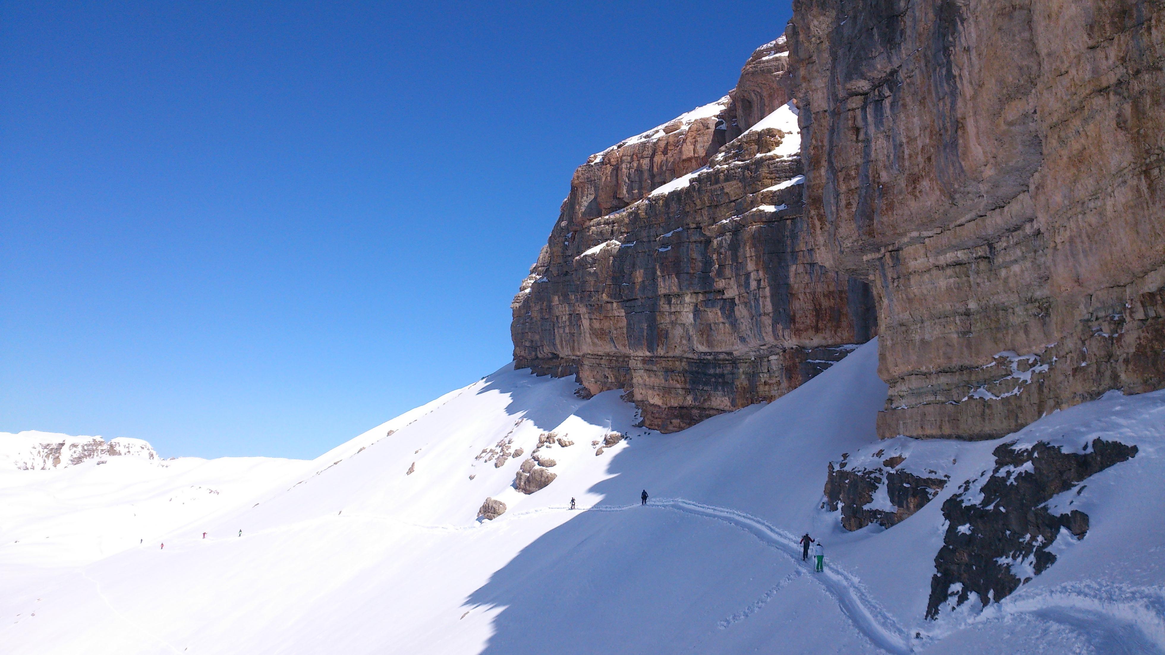 Foto von der Felswand